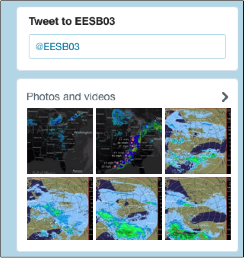 EES twitter feed screen shot