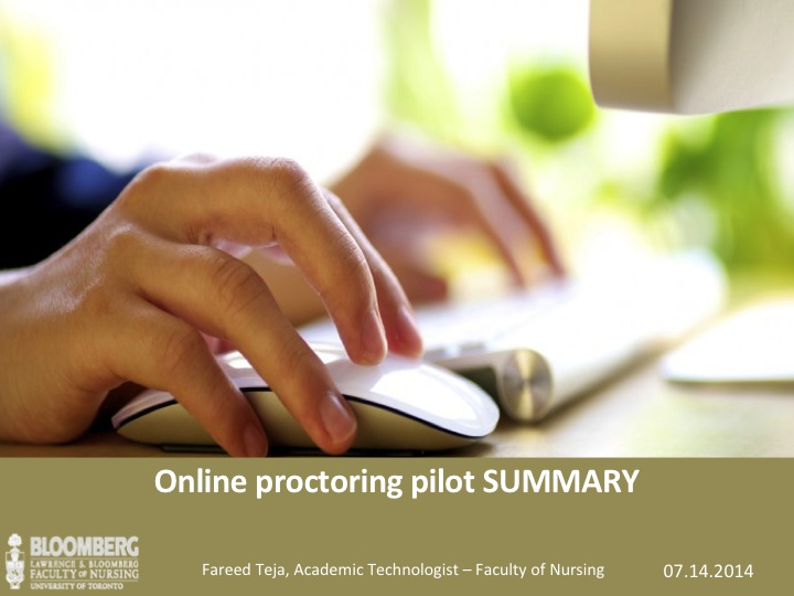 Online Proctoring Pilot PPT Screen Shot