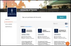 Screenshot of Riipen Portal