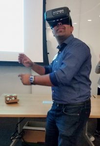 Dr. Chirag Variawa with VR Headset