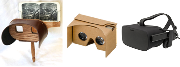 stereoscopic viewers VR headsets