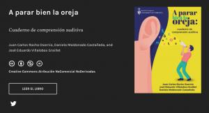 Screenshot of open textbook landing page Spanish literature